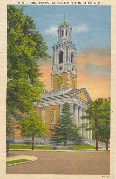 circa 1939 first baptist church winstonsalem nc ebay
