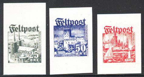 SS Panzergrenadier Regiment Danmark Feltpost Set imperforate - Stamps