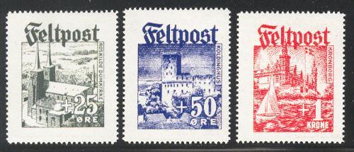 SS Panzergrenadier Regiment Danmark Feltpost Set Perforated - Stamps