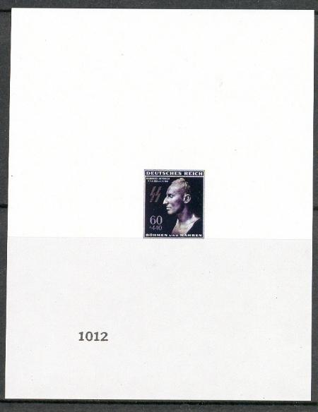 Bohemia and Moravia - Reinhard Heydrich Memorial Souvenir Sheet - Stamps