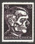 Deutsches Reich 45 Hitler Deaths Head - Stamps