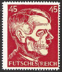 Futsches Reich 45 Hitler Deaths Head - Stamps