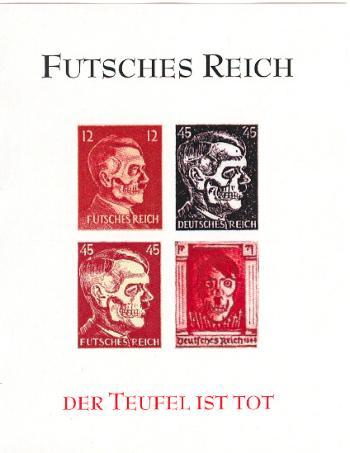Futsches Reich - Hitler Deathshead Fantasy Souvenir Sheet red - Stamps